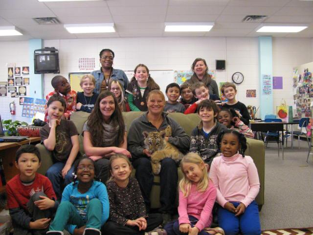 Ares (tiger Cub) at Hall Fletcher Elementary